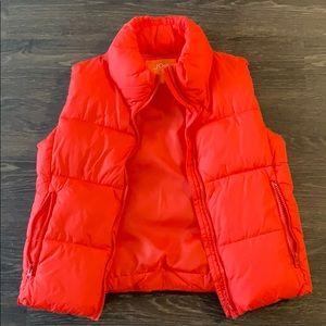 Joes fresh redy orange puffer vest
